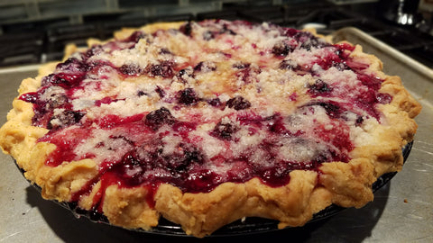 Baked Triple Berry Pie