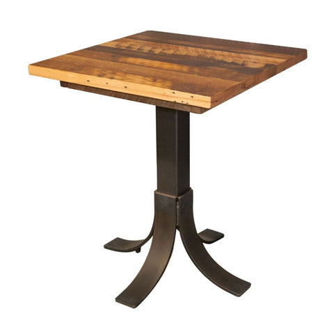 Reclaimed Pub Table Pedestal Metal Base