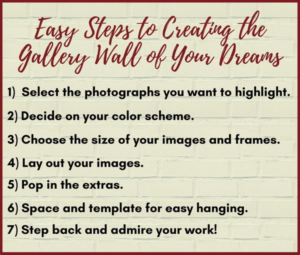 Easy Steps for Creating the Gallery Wall of Your Dreams