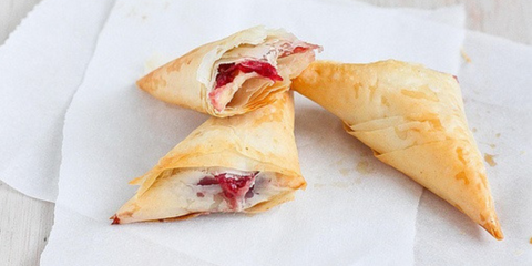 3-Ingredient Brie and Cranberry Phyllo Turnovers