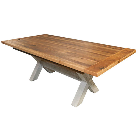 Littleton extendable reclaimed oak barnwood dining table