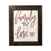 Family Where Life Begins Sign, 11x14 Reclaimed Wood Frame - Rustic Red Door Co.
