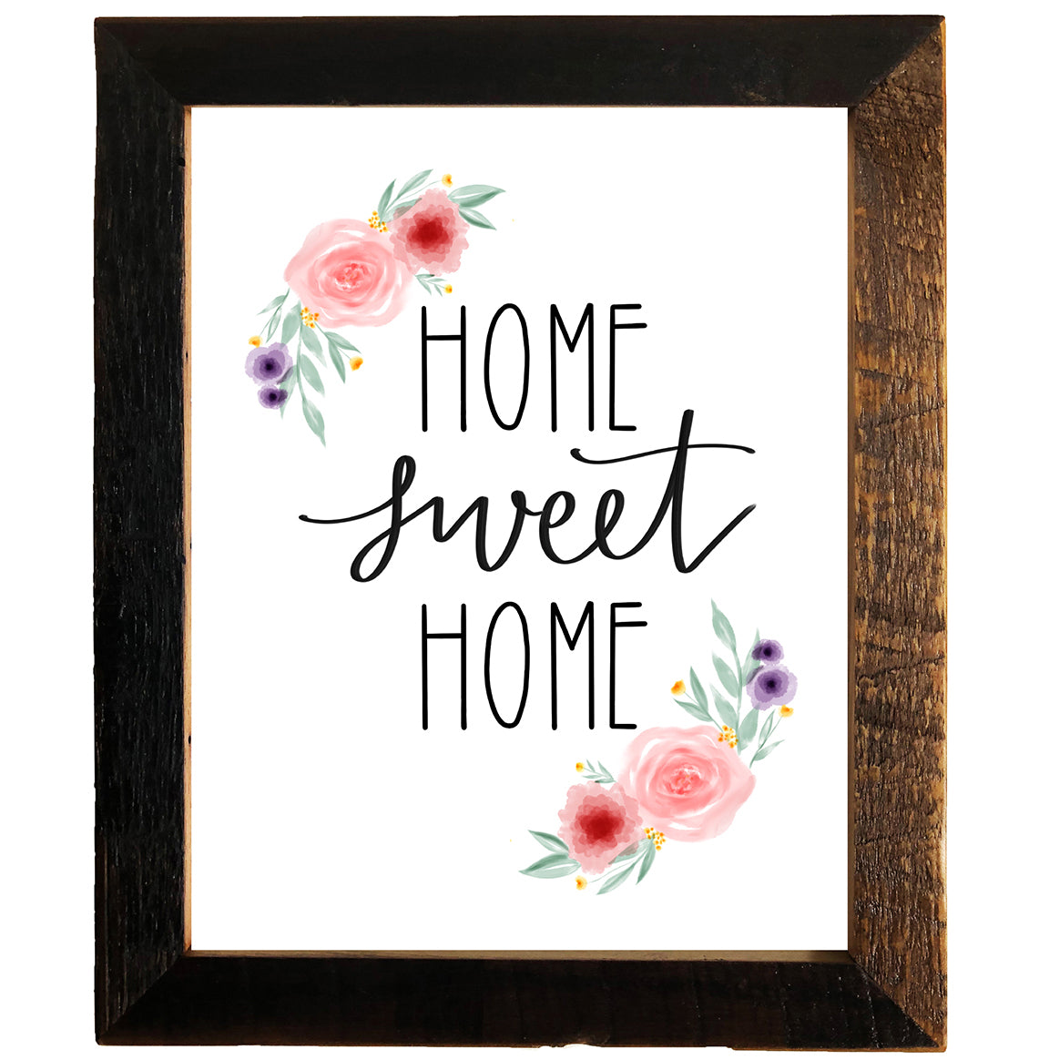 Home Sweet Home Sign 11x14 Reclaimed Wood Frame Rustic Red Door Co