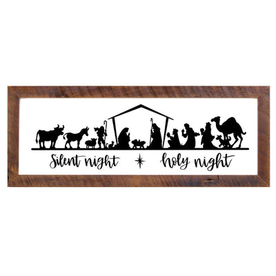 12x36 Nativity Framed Wall Decor - Rustic Red Door Co.