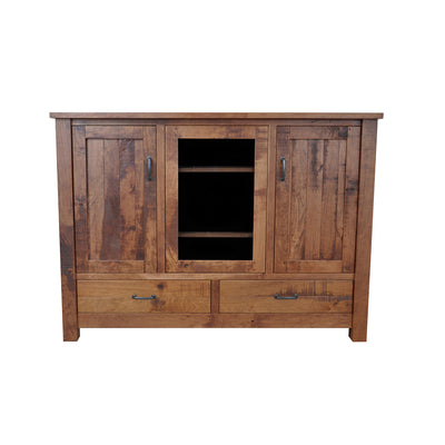 Planked Rustic Entertainment Center - Rustic Red Door Co.