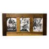 Reclaimed Wood Picture Frame, 3 Openings, 20 x 10 - Rustic Red Door Co.