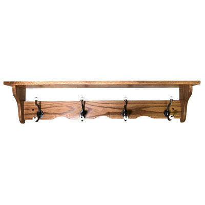 Traditional Coat & Cap Shelf - Rustic Red Door Co.