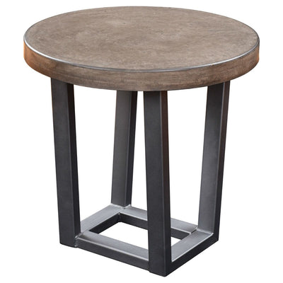 "Concrete Top End Table, Round, 22"" - Rustic Red Door Co."