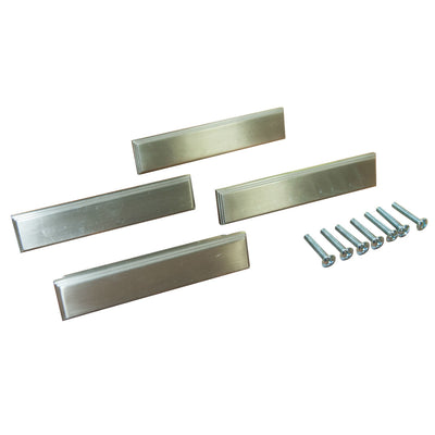 Set of 4, 4.5 inch Satin Nickel Drawer Pull