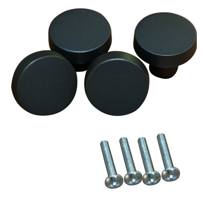 Set of 4, 1 5/16 inch Black/Bronze Drawer Knob