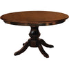 Barnes Single Pedestal Table, Brown Maple Wood, Asbury Stain - Rustic Red Door Co.