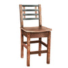Barrel Slat Bar Chair - Rustic Red Door Co.