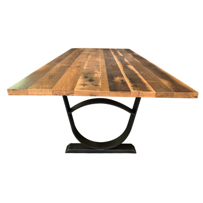 Brookside Reclaimed Dining Table, Metal Base - Rustic Red Door Co.