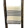 Cream with Navy Stripe, Loose Woven Beach Throw 76x46 - Rustic Red Door Co.