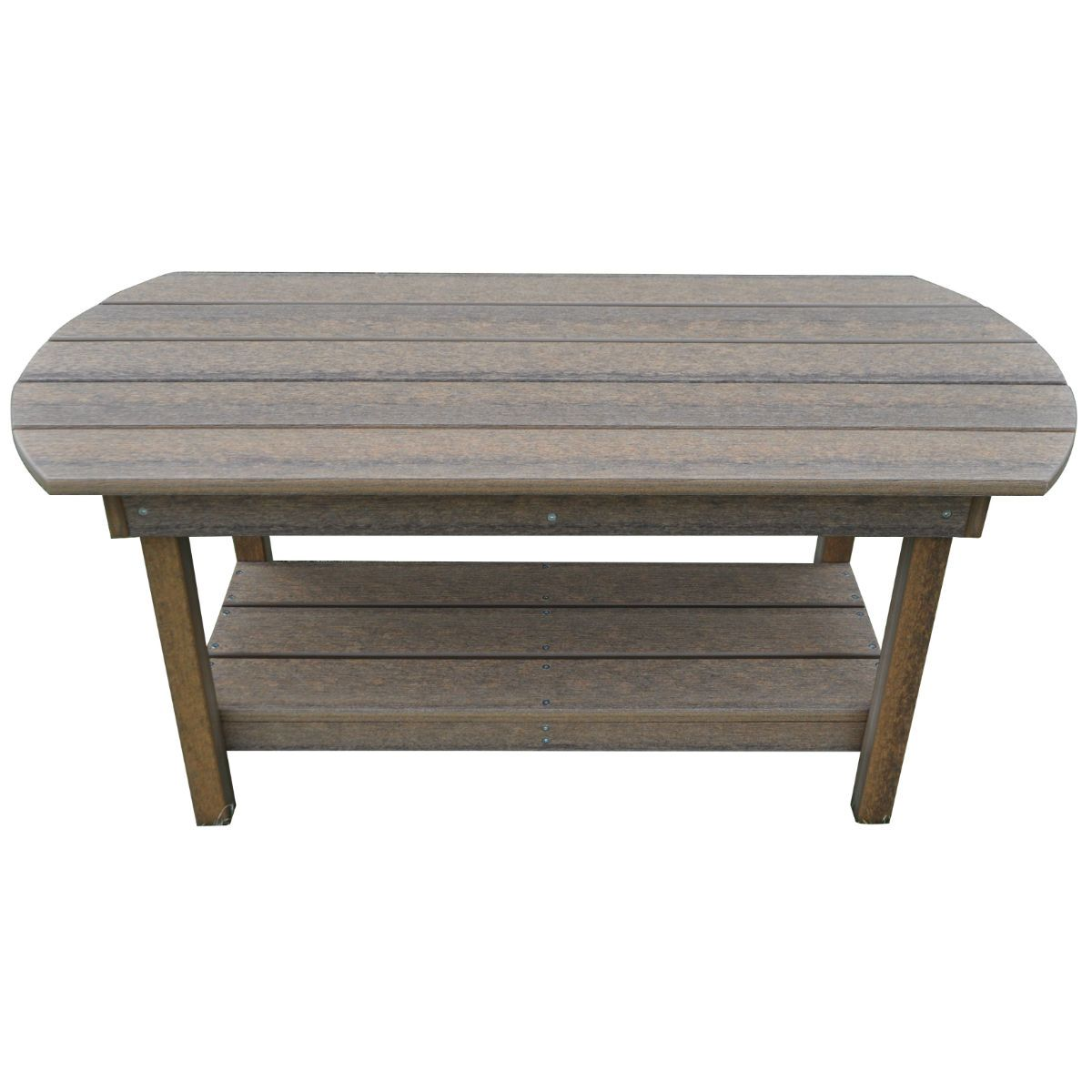 Outdoor Rustic Polywood Coffee Table Antique Mahogany Rustic Red - Polywood coffee table