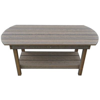 Outdoor Rustic Polywood Coffee Table,  Antique Mahogany - Rustic Red Door Co.
