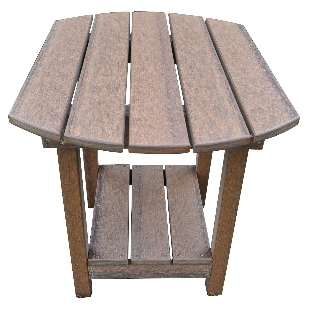Outdoor Rustic Polywood End Table Antique Mahogany Rustic Red