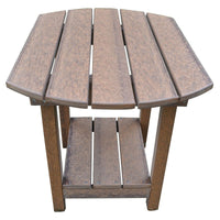 Outdoor Rustic Poly Lumber End Table,  Antique Mahogany - Rustic Red Door Co.
