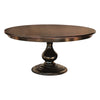 Foles Round Pedestal Table, Solid Top, Brown Maple, Rich Cherry Stain - Rustic Red Door Co.