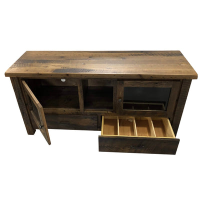 Foxfield Reclaimed Entertainment Center - Rustic Red Door Co.
