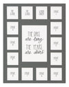 11x14 Days are Long Gray, School Picture Mat, 15 Opening, 2 Preschool - 12 - Rustic Red Door Co.
