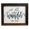 Not All Who Wander Are Lost Hand Lettered Sign, 8x10 Reclaimed Wood Frame - Rustic Red Door Co.