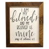"""I Am My Beloved's and My Beloved is Mine"" Print, Bible Verse, Song Of Solomon 6:3, Picture Frame, 11x14 Reclaimed Poplar Wood Frame - Rustic Red Door Co."