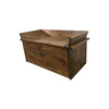 Traditional Shoe Bench Chest, Brown Maple, Provincial Stain, 39x20x18.5