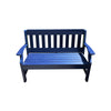 Outdoor Rustic Poly Lumber Bench, Blue - Rustic Red Door Co.