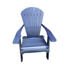 Outdoor Rustic Polywood Folding Adirondack Chair, Blue - Rustic Red Door Co.
