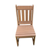 Outdoor Rustic Poly Lumber Dining Chair, Antique Mahogany - Rustic Red Door Co.