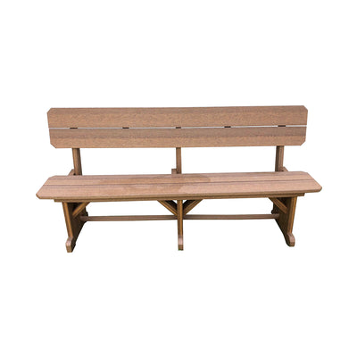 Outdoor Rustic Polywood Dining Bench, Antique Mahogany - Rustic Red Door Co.