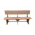 Outdoor Rustic Poly Lumber Dining Bench, Antique Mahogany