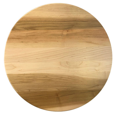 "Wooden Round Lazy Susan, Brown Maple Wood, Natural Stain 14"" - Rustic Red Door Co."