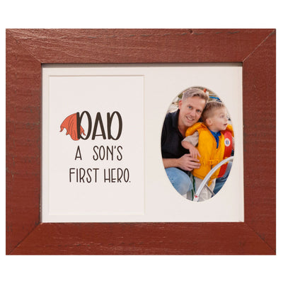 """Dad, A Son's First Hero"" Frame, 8 x 10 - Rustic Red Door Co."