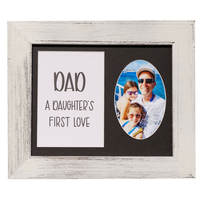 Dad, a Daughter's First Love Frame, 8 x 10 - Rustic Red Door Co.