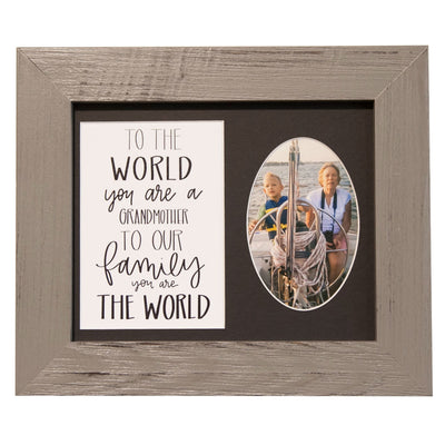 """To the World you are a Grandmother"" Sign, 8x10 Grey Wood Frame - Rustic Red Door Co."