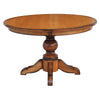 Kent Single Pedestal Table, Solid Top, Brown Maple Wood - Rustic Red Door Co.