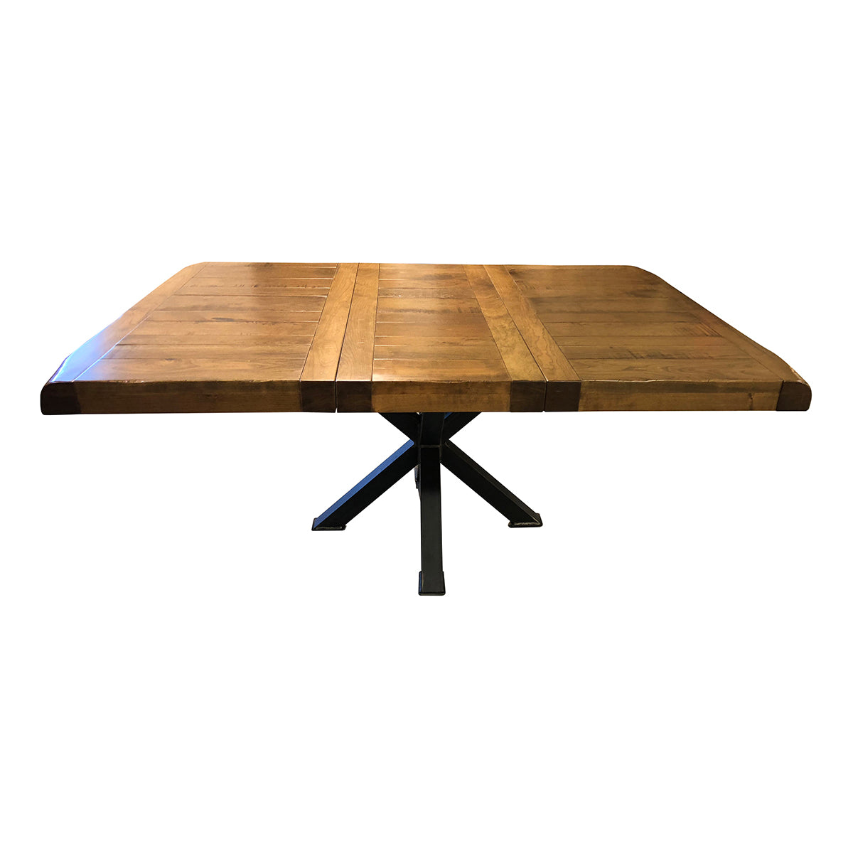 Bennet 48x48 Table, 1 Leaf, Rustic Cherry Wood, Provincial Stain - Rustic Red Door Co.