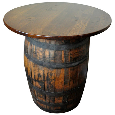 Rustic Whiskey Barrel Table, Quartersawn Oak, Michaels Stain - Rustic Red Door Co.