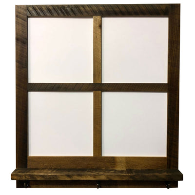 Reclaimed Wood 4 Pane Picture Frame with Hooks