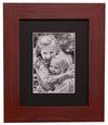 8x10 Red Distressed Frame, Black Mat - Rustic Red Door Co.