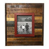 "Raised Frame on Reclaimed Wood, Barn Red on Wood, 22"" x 20"" - Rustic Red Door Co."