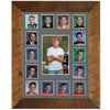 School Picture Frame, Barnwood Frame, Grey Mat, Pick Number of Openings & Middle Artwork