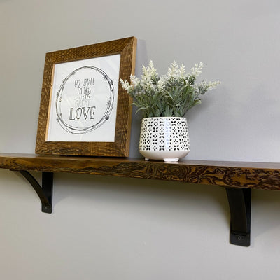 handmade steel shelf