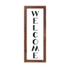 """WELCOME"" Sign, 12x36, Reclaimed Wood Frame - Rustic Red Door Co."