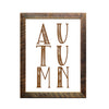 """AUTUMN"" Sign, 12x18 Reclaimed Wood Frame - Rustic Red Door Co."