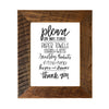 """Please Do Not Flush"" Humorous Bathroom Sign, 8x10 Reclaimed Wood Frame - Rustic Red Door Co."