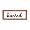 """Blessed"" Sign, 12x36, Reclaimed Wood Frame - Rustic Red Door Co."