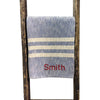 Denim Blue with Cream Stripe Woven Throw Blanket 52x80 , Rugby Stripe Pattern - Rustic Red Door Co.
